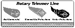 Rotary # 10425 trimmer line header card for display stand