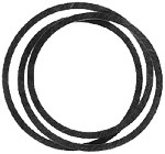Rotary # 12480 Lawn Mower Belt  For American Yard Products # 175436