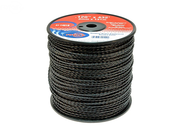 Rotary # 14519 VORTEX trimmer line .120 X 432' Spool Low Noise Line