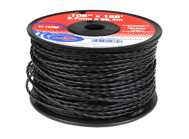 Rotary # 14730 VORTEX trimmer line .105 X 185' Spool Low Noise Line